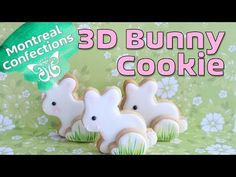 How to make a 3D Easter Bunny Cookie - YouTube