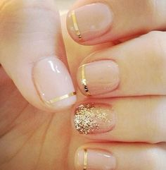 Loving the simple nails. How pretty for a party or a date night. Even a wedding!
