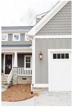 Exterior Gray Paint, Exterior Paint Colors For House, Paint Colors For Home, Paint Colours, Grey Paint, Paint Trim, Exterior Paint Ideas, Gray Exterior Houses, Exterior House Paint Colors