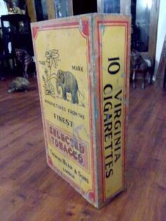 RARE-HONEYDEW-ELEPHANT-CIGARETTES-VINTAGE-36-PACKET-SHAPE-TOBACCO-STORE-DISPLAY
