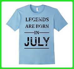 Mens Legends Are Born in July T-shirt Funny Birthday Men Gift Tee XL Baby Blue - Birthday shirts (*Amazon Partner-Link)