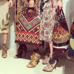 Crafty and southwestern details inspired by and ready for the Real World.  #Burberry #REGRAM #LFW 2014 a/w #details #crafty and awesome :O ..