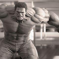 make some keyshot renders with old model. Marvel Statues, Hulk Marvel, Incredible Hulk, Old Models, God Of War, Turtle Neck, The Incredibles, Comics, Artwork