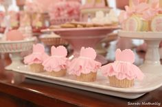 Pretty ballet cupcakes!  See more party ideas at CatchMyParty.com!
