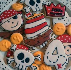 Pirate cookies from Little Prince Cookies