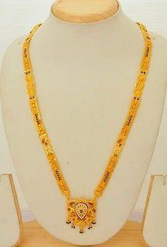 Gold Formed CZ Stone Studded Designer Mangalsutra | eBay