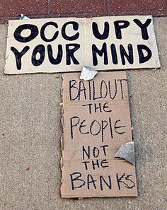 Occupy Wall St. — finally, someone did something. Indignez-vous!
