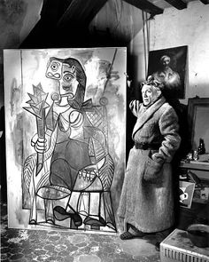 Pablo Picasso , Paris studio 1944, Lady with Artichoke