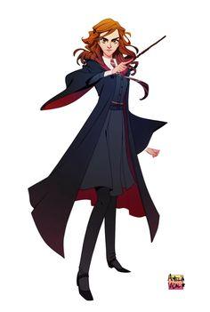 Hermione Granger - Harry Potter by AmeliaVidal Harry Potter Fan Art, Mundo Harry Potter, Harry Potter Drawings, Harry Potter Anime, Harry Potter Universal, Harry Potter Fandom, Harry Potter World, Harry Potter Memes, Potter Facts