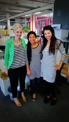 Stripe day at O Cape Town. From Left to Right: Mia // Strategy – Thania // Brand Team Assistant - Mariam // Account Executive Account Executive, Cape Town, Outfits, Dresses, Fashion, Outfit, Moda, Vestidos, Fashion Styles