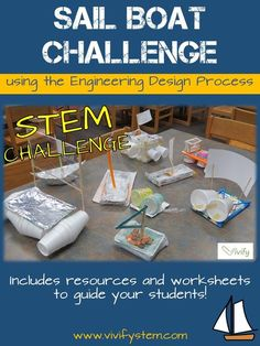 The Sailboat STEM activity is a great way to incorporate the engineering design process into your classroom or afterschool program! Many are familiar with the raft buoyancy challenge, and this takes it one step further by adding a sail! Now students must build a boat to hold a specific weight as well as incorporate aerodynamic principals to make it move.