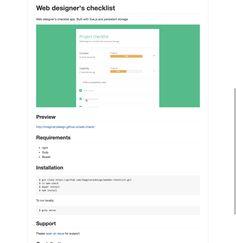 GitHub - Imaginarydesign/webdev-checklist: Web designer's checklist app. Built with Vue.js and persistant storage.