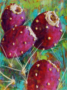 "Catalina O. Rankin ""Color Me Sweet"" Acrylic on Canvas♥♥ Watercolor Succulents, Watercolor Cactus, Watercolor Art, Cactus Painting, Cactus Art, Cactus Pictures, Southwestern Art, Desert Art, Mexican Art"