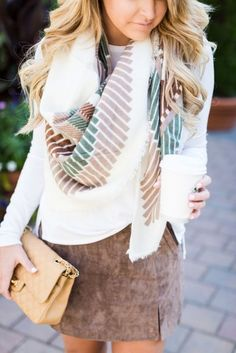 Lovely soft colors and details. Latest Fall / Winter Fashion Trends.