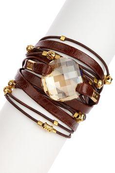 Sara Designs Swarovski Crystal Wrap Bracelet