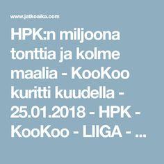 HPK:n miljoona tonttia ja kolme maalia - KooKoo kuritti kuudella - 25.01.2018 - HPK - KooKoo - LIIGA - Kuvakoosteet - Jatkoaika.com - Kaikki jääkiekosta