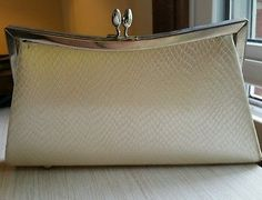For sale! Perfect Clutch purse. formal clutch casual clutch gold cream