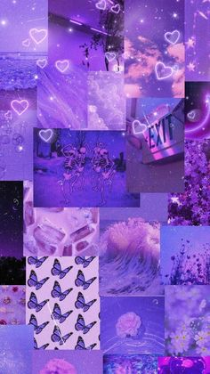 Wallpaper Collage, Iphone Wallpaper Tumblr Aesthetic, Aesthetic Pastel Wallpaper, Aesthetic Wallpapers, Violet Aesthetic, Dark Purple Aesthetic, Lavender Aesthetic, Butterfly Wallpaper Iphone, Purple Wallpaper Iphone