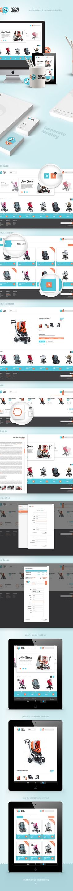 Fopahopa - Baby Store by Paweł Śliwa, via Behance
