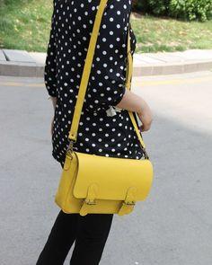 Handmade Artisan Genuine Leather Women's Messenger Bag / Shoulder Purse