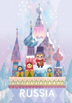 It& a Small World Ride- Disney Tokyo — Joey Chou - Mickey - Disney Illustration, Children's Book Illustration, Arte Disney, Disney Art, Small World Disneyland, Joey Chou, Tsumtsum, Disney Concept Art, Disney Posters
