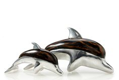 Coco Twig and Cast Aluminum Dolphins by Pearl Dragon Collections