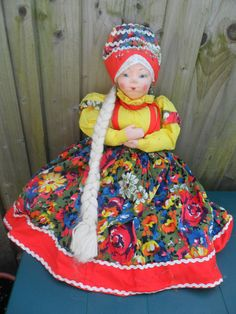 Russian USSR Tea Cosy Doll fabric face 10