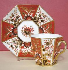 Wedgwood Porcelain CUP AND Saucer Rich Gilding C1880 | eBay