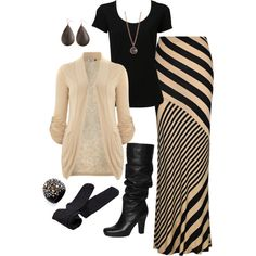 """Winter Maxi"" by lilhamp84 on Polyvore. Cute, comfy, and WARM."