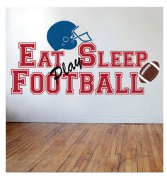 Football Wall Decal - Decal for Boy Baby Nursery or Boys Room 22H x 44W Wall Art via Etsy
