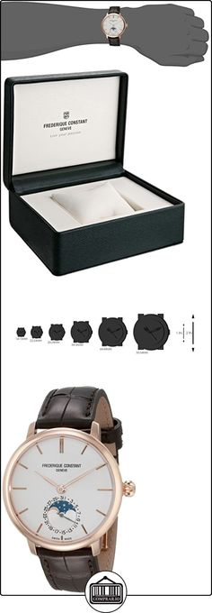 Frederique Constant Slim Line Moonphase Men's 38.8mm Automatic Watch FC703V3S4  ✿ Relojes para hombre - (Lujo) ✿