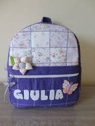 Resultado de imagen para patchwork mochilas infantiles