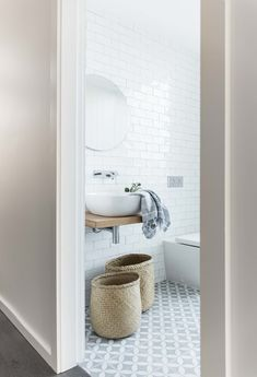 White subway tile, white sink, and white bathtub. White subway tile, white sink, and white bathtub. Bathroom Floor Tiles, Bathroom Renos, Laundry In Bathroom, Bathroom Fixtures, Bathroom Renovations, Bathroom Interior, Master Bathroom, Bathroom Ideas, Morrocan Bathroom