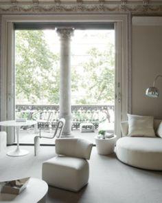 Mezzanine Passeig de Gracia rooms show off the building's classic style. #Jetsetter #JSEames