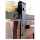 Agave Ironworks [RH001-6] Wrought Iron Rolling Track Barn Door Hardware Kit - Basic Smooth Design - 6' Track - AI-RH001-6