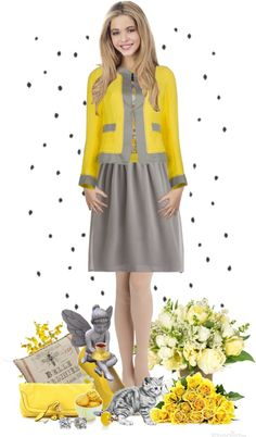 """""""Girl in yellow"""" by tyse4ka ❤ liked on Polyvore"""