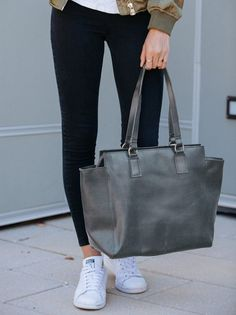 Meles Leather Carryall. Laptop ToteShopping TotesGrey FashionLeather  HandbagsLeather ... 636956bf89ce7