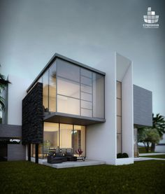 the modern house architecture Villa Design, Facade Design, Modern House Design, Exterior Design, Contemporary Architecture, Architecture Design, Contemporary Design, Building Architecture, Facade House