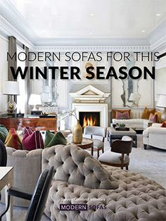 Keep up with Interior Design Trends! Incredible modern sofas dor the season.