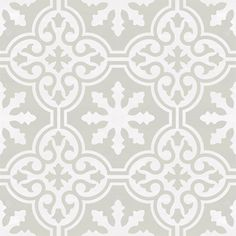 Vinyl Floor Tile Sticker - Floor decals - Carreaux Ciment Encaustic Floc Tile Sticker Pack in Stone Birch Floor Decal, Floor Stickers, Taupe Bathroom, Birch Floors, Tile Decals, Pattern Matching, Wide Plank, Vinyl Flooring, Kitchens