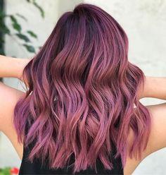 120 new ideas hair color burgundy plum purple dyes – page 1 Hair Dye Colors, Ombre Hair Color, Purple Hair, Dusty Pink Hair, Plum Purple, Bilage Hair, Dye My Hair, Gorgeous Hair Color, Cool Hair Color