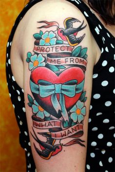 protect me from what i want #placebo #lyrics #heart #bird #ink #tattoo