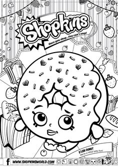 Shopkins Coloring Pages Season 1 D'Lish Donut