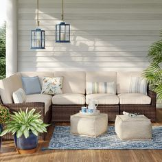 Halsted Patio Conversation Sectional Set - Linen - Threshold™ - image 1 of 11 Layout Design, Backyard Patio Designs, Patio Ideas, Backyard Landscaping, Pergola Ideas, Design Jardin, Patio Furniture Sets, Furniture Makeover, Screened Porch Furniture