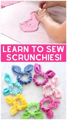 Learn How to Make a Scrunchie with a Bow the Easy Way Using this FREE Sewing Pattern and Step-By-Step Tutorial. Learn How to Make a Scrunchie with a Bow the Easy Way Using this FREE Sewing Pattern and Step-By-Step Tutorial. Sewing Blogs, Easy Sewing Projects, Sewing Projects For Beginners, Sewing Hacks, Sewing Crafts, Sewing Tips, Sewing Ideas, Baby Sewing Tutorials, Diy Hair Scrunchies