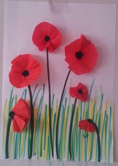 How to Make Poppy for Spring Craft Idea? - Preschool and Kindergarten red poppy spring craft idea fo Craft Activities For Kids, Preschool Crafts, Fun Crafts, Crafts For Kids, Arts And Crafts, Montessori Activities, Wood Crafts, Paper Crafts, Craft Ideas