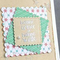 Scrap et Carte: Carte de bonne année festonnée. Tableware, Frame, Scrapbooking, Decor, Greeting Cards, Happy Retirement, Happy Name Day, Decorating, Dinnerware