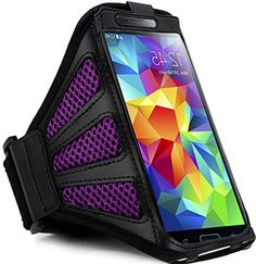 """myLife Amethyst Purple + Ashy Black with Flex Mesh {Rain Resistant Velcro Secure Running Armband} Dual-Fit Jogging Arm Strap Holder for Samsung Galaxy Note 2 """"All Ports Accessible"""" myLife Brand Products http://www.amazon.com/dp/B00TG7PSSC/ref=cm_sw_r_pi_dp_j40avb1NBAEQ2"""