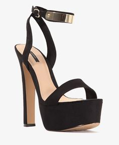 Faux Suede Platform Sandals | FOREVER21 - 2030186272