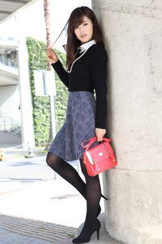Fashion Models, Girl Fashion, Womens Fashion, Steampunk Fashion, Gothic Fashion, Beautiful Asian Women, Amazing Women, Nylons, Cute Japanese Girl